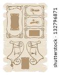 old parchments  manuscripts ... | Shutterstock .eps vector #132796871