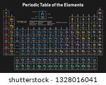 colorful periodic table of the...   Shutterstock .eps vector #1328016041