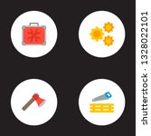 set of construction icons flat... | Shutterstock .eps vector #1328022101