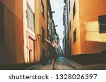 tourist woman walking in...   Shutterstock . vector #1328026397