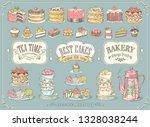 hand drawn set of sweet food...   Shutterstock .eps vector #1328038244