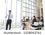 business executive delivering a ... | Shutterstock . vector #1328043761