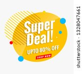 super sale banner template... | Shutterstock .eps vector #1328047661