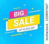 big sale banner modern template   Shutterstock .eps vector #1328047667