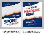 template design for sport event ... | Shutterstock .eps vector #1328053637