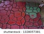 cobbles. stone road pattern.   Shutterstock . vector #1328057381