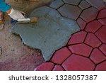 cobbles. stone road pattern.   Shutterstock . vector #1328057387