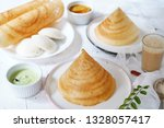 south indian breakfast meal... | Shutterstock . vector #1328057417
