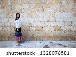 girl visit dubrovnik | Shutterstock . vector #1328076581