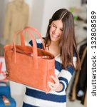 happy young beautiful woman... | Shutterstock . vector #132808589