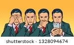 not see say look  smartphone... | Shutterstock .eps vector #1328094674