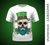 color handdrawn skull of... | Shutterstock .eps vector #1328102444