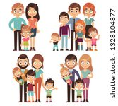 happy family. families mother... | Shutterstock .eps vector #1328104877