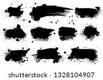 ink splashes. black inked... | Shutterstock .eps vector #1328104907