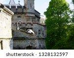 road trip in may walls of...   Shutterstock . vector #1328132597
