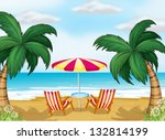 illustration of the view of the ... | Shutterstock . vector #132814199