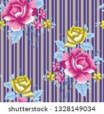 seamless pattern with rose... | Shutterstock .eps vector #1328149034