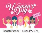 8 march   international women's ... | Shutterstock .eps vector #1328197871