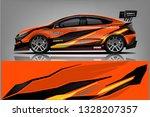 sport car racing wrap design....   Shutterstock .eps vector #1328207357