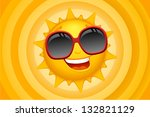 Vector Sun Character With...