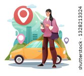 car sharing service or online... | Shutterstock .eps vector #1328213324
