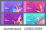 banner  site  poster floral... | Shutterstock .eps vector #1328213354