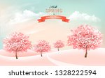 spring nature background with... | Shutterstock .eps vector #1328222594
