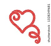twisted vector rope heart icon...   Shutterstock .eps vector #1328249681
