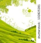 illustration environmentally... | Shutterstock . vector #132825281