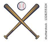 baseball emblem with baseball... | Shutterstock .eps vector #1328255324