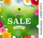 spring sale poster with... | Shutterstock .eps vector #1328271971