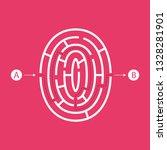number zero shape maze... | Shutterstock .eps vector #1328281901