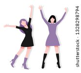 colorful happy woman... | Shutterstock .eps vector #1328298794