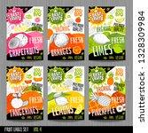 food labels stickers set...   Shutterstock .eps vector #1328309984