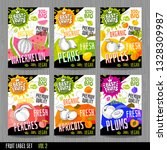 food labels stickers set... | Shutterstock .eps vector #1328309987