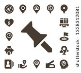 pin icon set. 17 filled pin... | Shutterstock .eps vector #1328312081