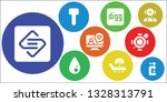 filled icon set. 9 filled... | Shutterstock .eps vector #1328313791