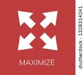 maximize icon. editable ...