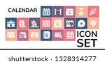 calendar icon set. 19 filled... | Shutterstock .eps vector #1328314277