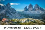 colorful scenery of three peaks ... | Shutterstock . vector #1328319314
