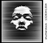 parallel line art face. african ...   Shutterstock .eps vector #1328341304