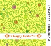 easter card. easter  background ... | Shutterstock . vector #132834674
