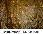 golden metallic rumpled foil... | Shutterstock . vector #1328351981