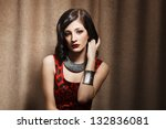 attractive young woman | Shutterstock . vector #132836081