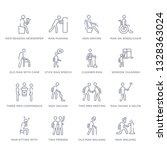 set of 16 thin linear icons... | Shutterstock .eps vector #1328363024