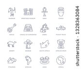 set of 16 thin linear icons... | Shutterstock .eps vector #1328363084