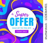 sale banner with abstract...   Shutterstock .eps vector #1328364401