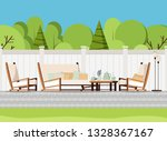 relaxing porch zone  private... | Shutterstock .eps vector #1328367167