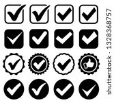 approval check icon isolated ... | Shutterstock .eps vector #1328368757