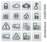 security icons vector | Shutterstock .eps vector #132837605